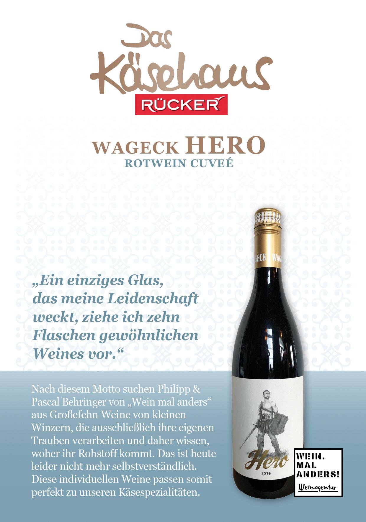 Wageck Hero - Rotwein Cuveé