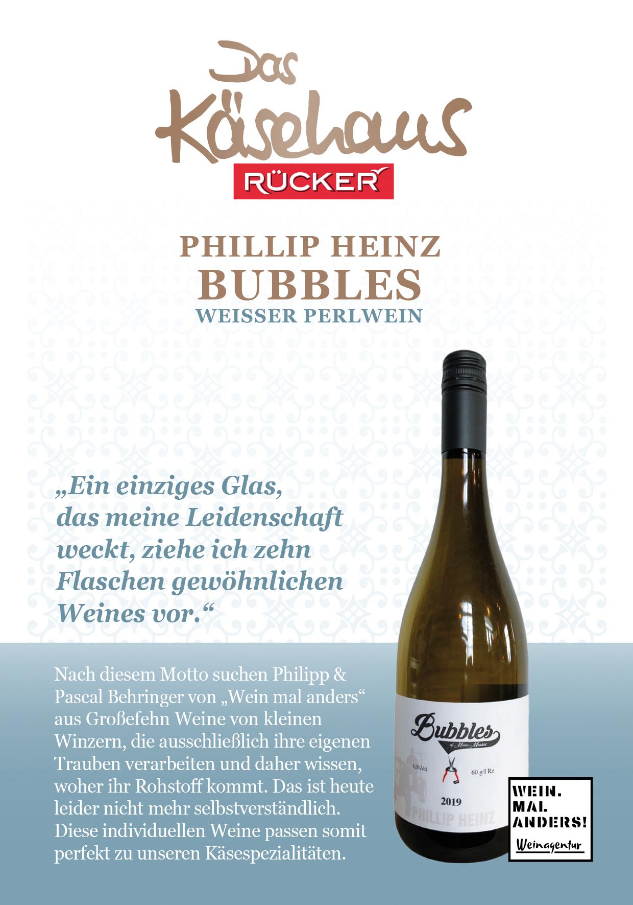 Phillip Heinz Bubbles - Weisser Perlwein